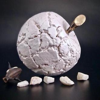 """Керамический декор  """" белое яблоко"""" ,  набор белых  керамических яблок, арт.№34"""