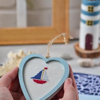 Морський декор сувенір серце