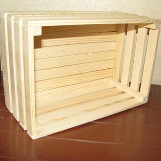 Деревянный ящик для декора