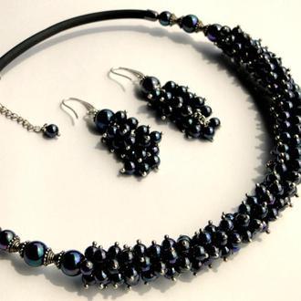 Намисто і сережки перлові