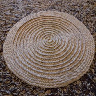 Коврик круглый массажный из джута