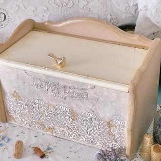 Хлебница деревянная «Пташка». В наличии.
