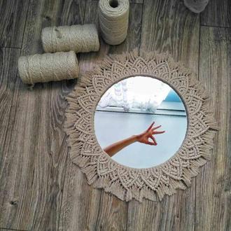 Декоративное зеркало  в стиле бохо