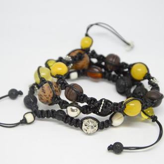 Эксклюзивные браслеты из натуральных материалов
