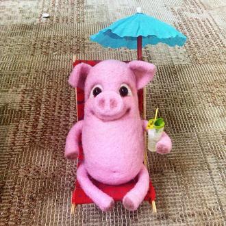 Іграшка свинка Куця