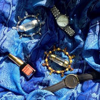 Серебряный/Золотой браслет с хрустальными каплями
