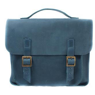 Кожаная сумка-трансформер. 07008/голубой