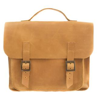 Кожаная сумка-трансформер. 07008/желтый