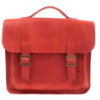 Кожаная сумка-трансформер. 07008/красный
