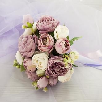 Букет-дублер лиловый / Букет-дублер для свадьбы лиловый / Букет невесты / Букет подружкам