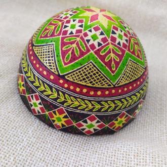 Половинки писанок на страусиных  яйцах для декора