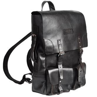 Черный рюкзак CREEDENCE BLACK BACKPACK из кожи