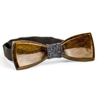 Деревянная галстук-бабочка. Деревянный аксессуар для мужчины.