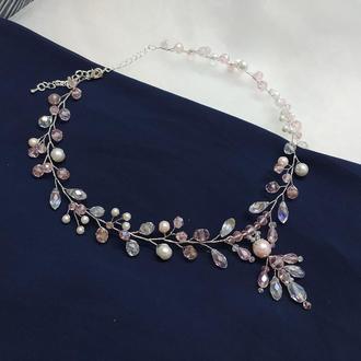 Свадебное Колье свадебное украшение на шею
