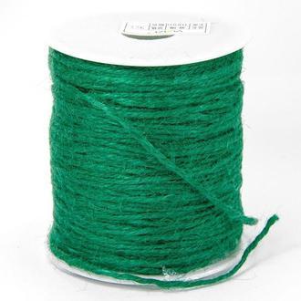 Бечевка декоративная, цвет зеленый, 10 м.