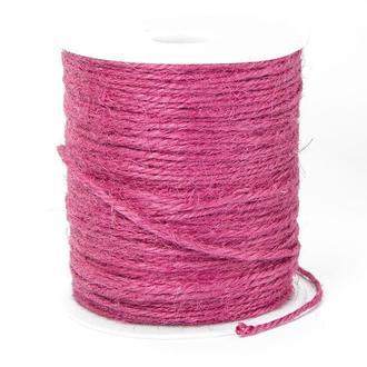 Бечевка декоративная, цвет розовый, 10 м.