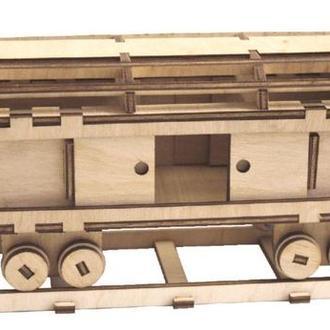 Деревянный набор-конструктор F-012. ВАГОН