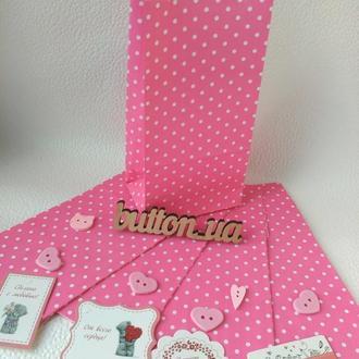 Пакет 190/95/65мм розовый