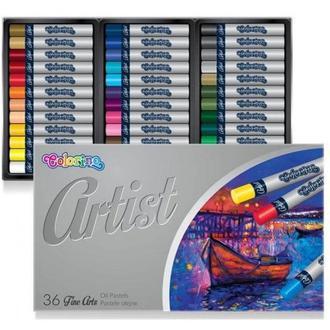 Пастель масляная Colorino Artist 36цв. круглая 65726