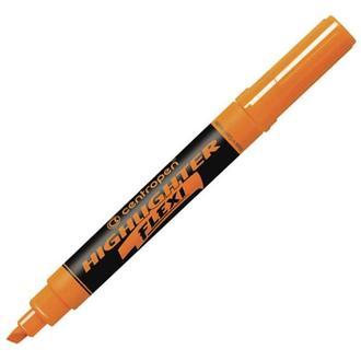 Маркер текстовыделитель Centropen Fax Flexi 1-4,6мм 8542*_Оранжевый