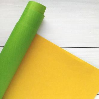 Бумага 110см/70см салатово-желтая