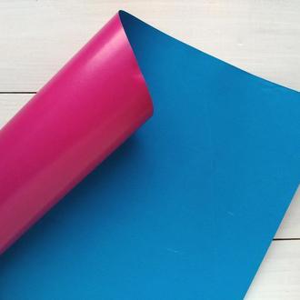 Бумага 110см/70см сине-розовая глянцевая