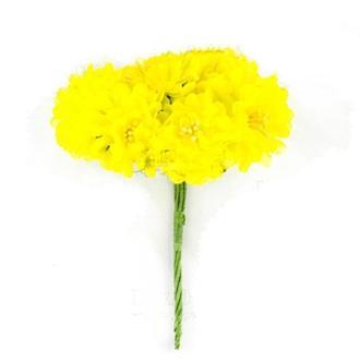 Набор заготовок для декорирования Фабрика Декору 6шт Букет цветов яблони FDfa-0**_желтый яркий