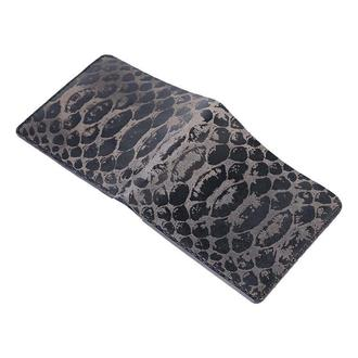 Черное портмоне DRAGON SKIN BLACK MEDIUM WALLET из кожи