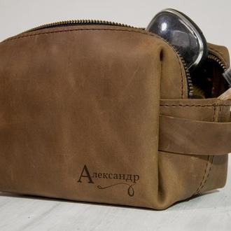 Чоловіча сумочка для подорожей з гравіюванням