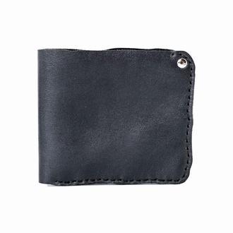 Черное кожаное портмоне BITTEN BLACK MEDIUM WALLET