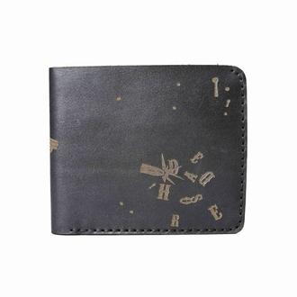 Черный кошелек GUN BLACK MEDIUM WALLET из натуральной кожи