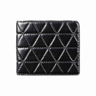 Черное портмоне OZZY LINES BLACK WALLET с вышивкой