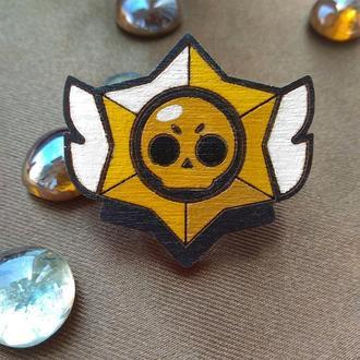 Деревянный значок Brawl Stars