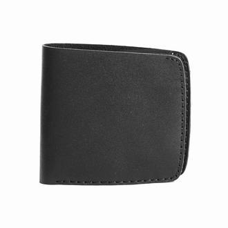 Черное портмоне DH BLACK BIG WALLET из кожи