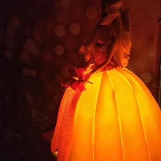 Светильник в детскую. Кукла светильник