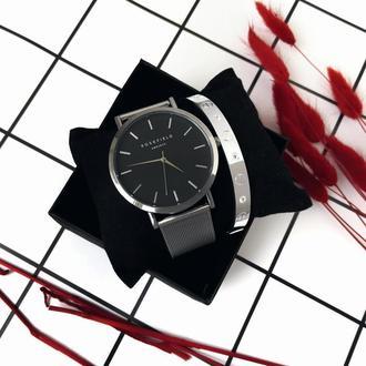 Стильные часы Rosefield в серебре