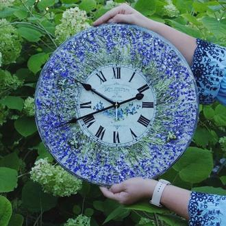 большие часы Прованс и лаванда
