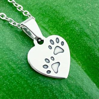 """Подвеска """"Братья наши меньшие"""" отпечатки лапок Для любителей животных (модель № 609) JK jewelry"""