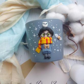 Чашка с Гарри Потером из полимерной глины