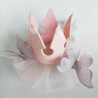Пудровая корона для маленькой принцессы