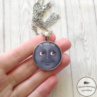 Кулон Луна синяя