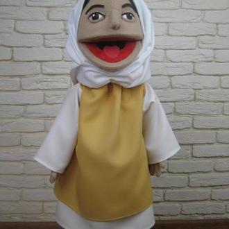 Мария кукла на руку с открывающимся ртом