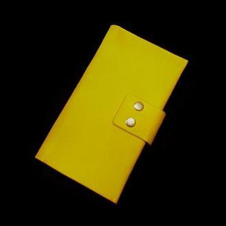 Женский кожаный клатч кошелёк
