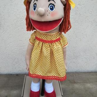 Рыжуля кукла на руку с открывающимся ртом