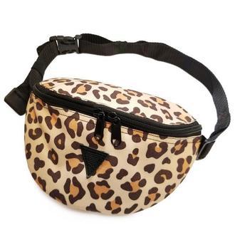 Поясная сумка бананка с леопардовым принтом