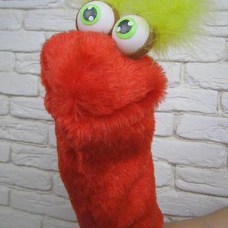 Пинчи игрушка на руку ,с открывающимся ртом .