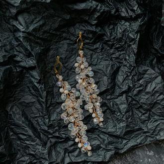 Сережки для нареченої весільні сережки