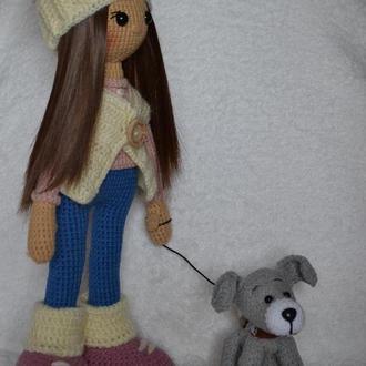 Кукла Стеша с собачкой в подарочной коробке