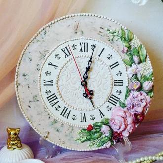 """Настенные часы """"букет цветов"""" настольные, подарок женщине"""