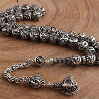 Четки из серебра в подарочной деревянной шкатулке ручной работы персонализированные под заказ⠀
